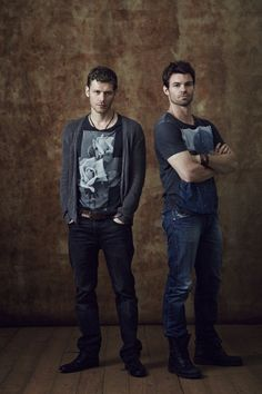 The Originals: Klaus & Elijah - his combat boots though!!! (Getting hooked on this show...)