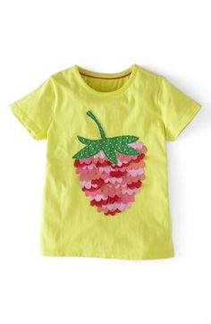 Mini Boden Ruffle Appliqué Tee (Toddler Girls, Little Girls & Big Girls) available at #Nordstrom