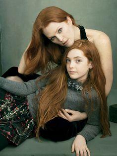 Mother Daughter Vogue US vs Goldenlight Creative Plano TX | Vogue August 2014, by Annie Leibovitz.