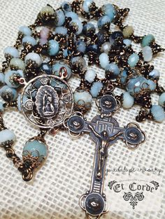 Our Lady of Guadalupe Rosary Wire wrapped Bronze by Et Corde Rosaries & Jewelry