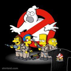 The Simpson's Homer Busters ghostbusters thesimpsons The Simpsons, Simpsons T Shirt, Homer Simpson, Image Simpson, Cartoon Art, Cartoon Characters, Morbider Humor, Nerd Humor, Comic Art