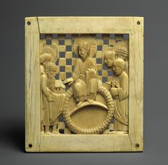 Ottonian Plaque with Otto I presenting the Cathedral of Magdeburg, Ivory, c. 962–968. Probably made in Milan, Northern Italy