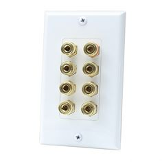 8 Port Binding Post Wall plate