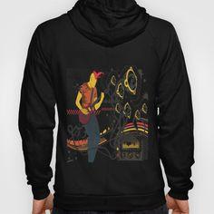 Doodle Swirl with Chevron Hoody Tee Shirts, Tees, Back To Black, Chevron, Hoody, Graphic Sweatshirt, Unisex, Sweatshirts, Sweaters