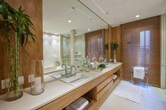 Decoração de ambientes - Banheiros com duas cubas.