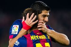 Neymar to Suarez: Happy Birthday Fatty! Neymar, Messi, Best Club, Second Best, Malaga, Scores, Division, Happy Birthday, Barcelona Team