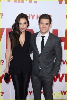 Chloe Bridges and Adam Devine at the premiere of Why Him?