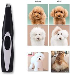 AngFan Pet Clippers Cat Shaver, Professional Hair Grooming Clippers Detachable Blades Cordless Rechargeable with Scissor, Guards for Small Medium Large Dogs Cats and Other Pets Dog Grooming Clippers, Professional Hairstyles, Edge Design, Large Dogs, Dry Skin, Pet Supplies, Blade, Dog Cat, Pets