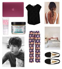 """Skyping with Jin"" by bts-outfit-imagines on Polyvore featuring Bobeau, UGG Australia, Urban Outfitters, Formula 10.0.6, Skin & Tonic and Incase"