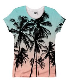 This Aqua Beach Palms Full-Print Tee by Board Life is perfect! #zulilyfinds