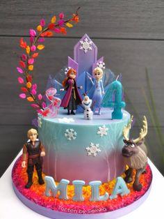 6th Birthday Cakes, Elegant Birthday Cakes, Frozen Themed Birthday Party, Disney Frozen Birthday, Birthday Cake Girls, Tarta Frozen Disney, Anna Frozen Cake, Bolo Frozen, Frozen Cake Designs
