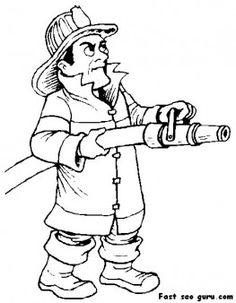 Printable fireman Sam coloring page - Printable Coloring Pages For Kids