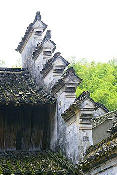 Traditional house Fenghua, Zhengjiang Province, China