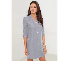 Košilové pruhované šaty | modino.cz #modino_cz #modino_style #style #fashion #summer #bestseller