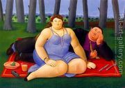 Picnic 1998  by Fernando Botero