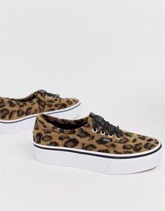 20806e55da Vans Authentic leopard platform sneakers