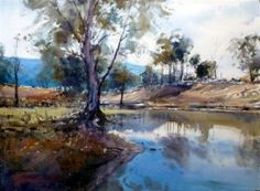 Emu Creek Watercolour by David Taylor