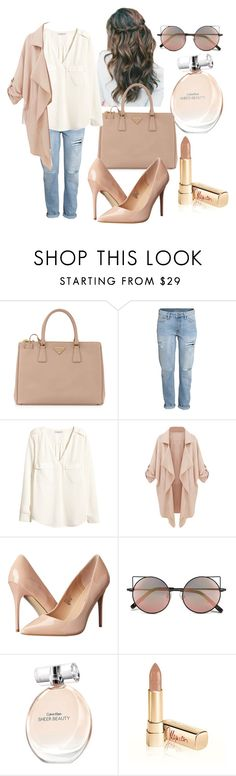 """""""Senza titolo #159"""" by sindimaloku ❤ liked on Polyvore featuring Prada, H&M, Madden Girl, Linda Farrow, Calvin Klein and Dolce&Gabbana"""