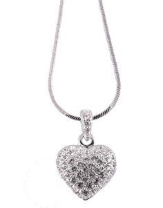Swarovski Crystalp Heart Necklace
