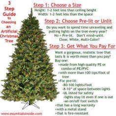 3 Step Guide to Choosing Your Artificial Christmas Tree   the essentials inside   www.essentialsinside.com