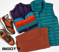 Casual doesn't mean montone or dull. Usse rich colours and special details to enhance the style of your everyday outfits! Finale sale now in stores and on www.bigotti.ro! #Bigottiromania #Romania #ootdmen #styleoftheday #mensfashion #stilmasculin #casual #casualfashion Everyday Outfits, Romania, Vest, Colours, Mood, Mens Fashion, Casual, Jackets, Style