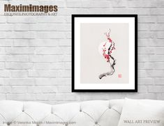Beautiful sakura branch with red blossom flowers in the sun. Iconic cherry blossoms or... Image MXI32802. Buy it as Art print, Canvas print, Wall tapestry, Greetings cards at MaximImages.com #sakura #sakuras #moon #full #moonlight #cherry #blossom #plum #blossoms #nature #painting #buy #illustration #illustrations #prints #artprint #wallart #fineartprints Wall Art Prints, Fine Art Prints, Canvas Prints, Zen Home Decor, Zen Painting, Illustration Art, Illustrations, Blossom Flower, Cherry Blossoms