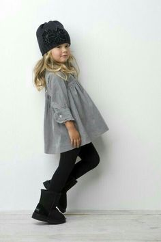 Black and grey outfit for little girl
