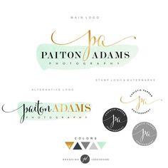 Logo Premade Branding Kit Photography logo package by GDLogoDesign
