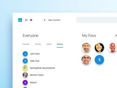 Google Contacts Redesign Concept