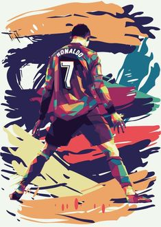 Cristiano Ronaldo And Messi, Neymar, Pop Art Posters, Poster Prints, Soccer Drawing, Ronaldo Quotes, Soccer Stadium, 4k Wallpaper For Mobile, Pop Art Portraits
