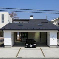 ガレージの家の部屋 ビルトインガレージのある外観