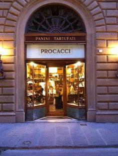 Procacci - best truffle mini sandwiches in Florence, Italy. Must Try: Panino Tartufato