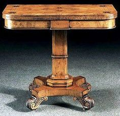 Regency Games table Designed by George Bullock 1777 - 1818 This I would love!