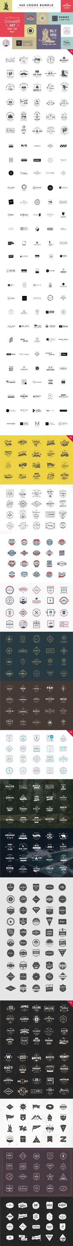 465 Logos Bundle by vuuuds https://creativemarket.com/vuuuds/287274-465-Logos-Bundle-90-off
