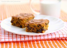 OH MY WORD!!!! Choco-Chip Pumpkin Squares!!!