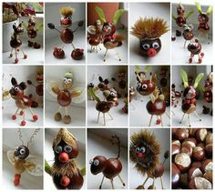 Horse chestnut craft, even though I can't stand our stupid tree!