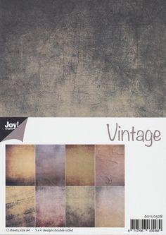 Scrapbooking - Joy!Crafts Papier Set A4, Vintage, 6011/0508 - ein Designerstück von ZeitfuerKreatives bei DaWanda