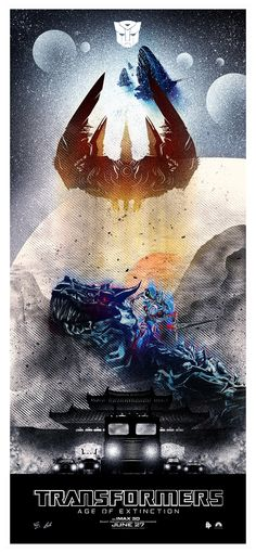 Transformers: Age of Extinction poster by Luke Butland Movies To Watch Free, Good Movies, Man In Black, Transformers Movie, Optimus Prime, Star Trek, Art Projects, Anime, Wattpad
