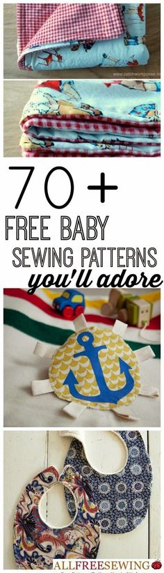 Craft Project Ideas: 75 Free Baby Sewing Patterns You'll Adore + New Baby Sewing Patterns                                                                                                                                                      More