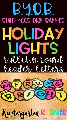 Holiday Christmas Lights Bulletin Board Banner Lettering - Real Time - Diet, Exercise, Fitness, Finance You for Healthy articles ideas
