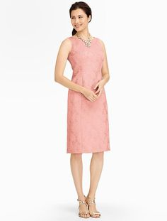 Talbots - Peony Matelassé Seamed Sheath | Events and Occasions | Misses