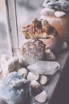 crystals on the window sill  / Sacred Spaces