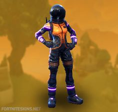Dark Vanguard Outfit in Fortnite Battle Royale.