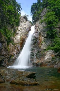 Glen Ellis Falls at the base of Mount Washington in New Hampshire.