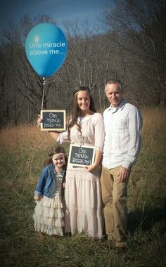 One miracle above me, one miracle beside me, one miracle inside me. #Pregnancy announcement after infant loss