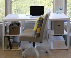 DIY easy home office or child's desk
