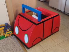 Red Peppa Pig Family Car Photo Prop/Play In