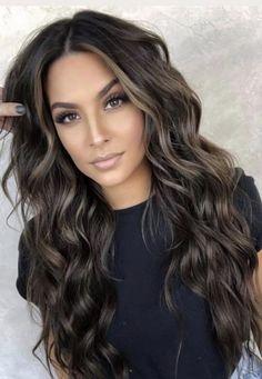 Brown Hair Balayage, Balayage Brunette, Hair Color Balayage, Hair Highlights, Bayalage, Hair Color For Black Hair, Hair Colour, Great Hair, Gorgeous Hair
