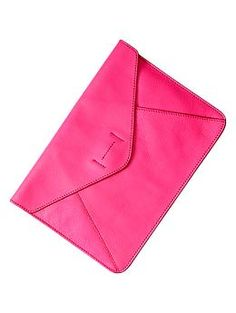 Leather envelope clutch | Gap - if its big enough, this would be a great iPad sleeve!