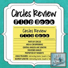 Circles Review Flip Book